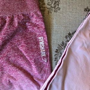 Gymshark leggings ombré pink small